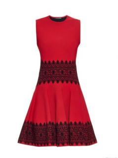 Alexander McQueen Contrast Stretch Knit Dress