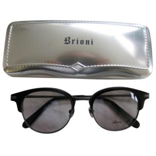 Brioni Mens Classic Black Sunglasses