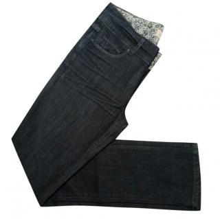 Paige Straight Leg Blue Jeans