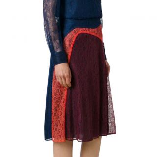 Tory Burch paneled kaisa lace skirt