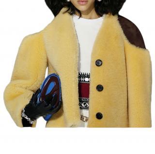 Louis Vuitton short shearling aviator style jacket