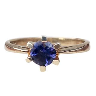 Bespoke 9ct Gold Iolite Solitaire Ring
