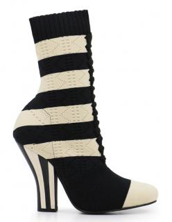 Fendi Rockoko Stripe 105mm Sock Boot