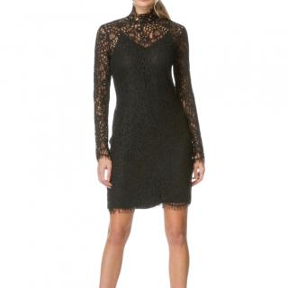 By Malene Birger Solarisa black lace mini dress