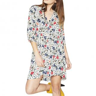 Ba&Sh Pascou Floral Print Mini Dress