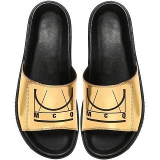 McQ Metallic Gold Logo Slides