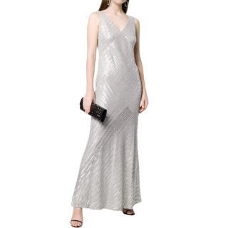 Lauren Ralph Lauren Sequin Embellished V-Neck Gown