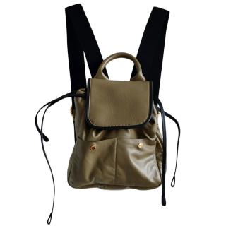 Marni Olive Green Leather Backpack