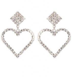 Alessandra Rich crystal embellished heart earrings