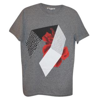 McQ by Alexander McQueen Grey Graphic Print T-Shirt