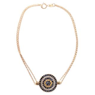 Bespoke 18kt Yellow Gold Sapphire Lucky Eye Bracelet