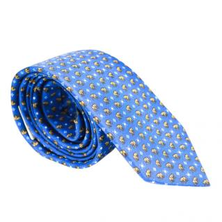 Cliff Blue Elephant Print Tie