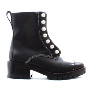 3.1 Phillip Lim Faux Pearl Studded Zip Front Ankle Boots
