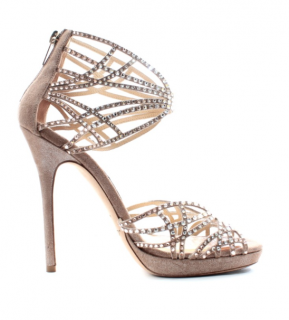 Jimmy Choo crystal embellished diva sandals