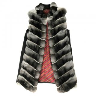 FurbySD Chinchilla Fur Sleeveless Jacket