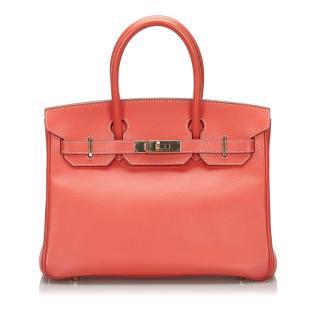 Hermes Pink Epsom Leather 30cm Birkin