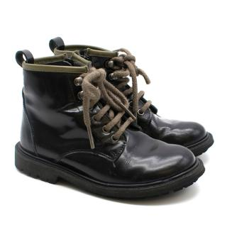 Bonpoint Black Leather Lace up boots