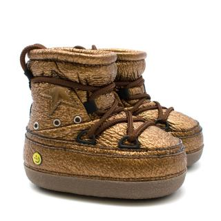 Golden Goose Kid's 29-31 Bronze North Star Ankle Boots