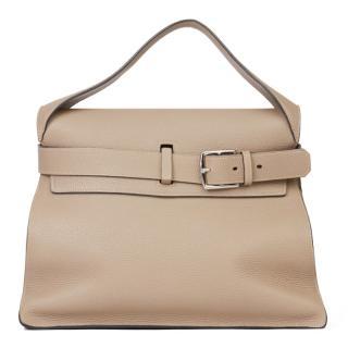 Hermes Clemence Leather Etoupe Etribelt Tote Bag