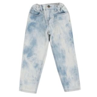 Gucci Kid's Acid Wash Jeans with bee detail