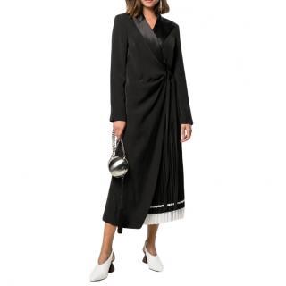 Self-portrait Tailored Wrap Midi Dress