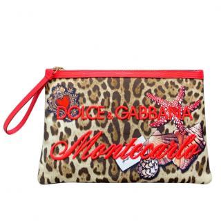 Dolce & Gabbana Leopard Print Montecarlo Pouch