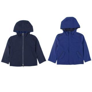Loro Piana kids navy & blue reversible jacket