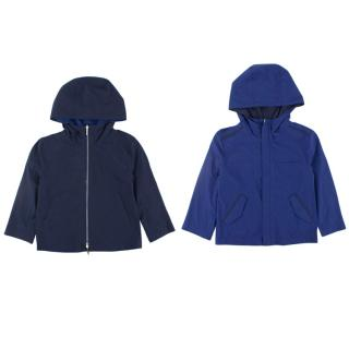 Loro Piana kids navy & blue reversible jacket