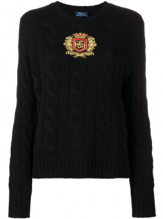 Polo Ralph Lauren crest cable-knit jumper
