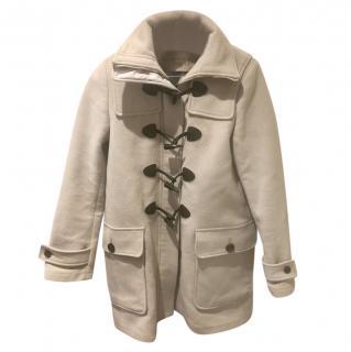 Burberry Beige Wool Duffle Coat