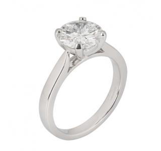Bespoke White Gold Round Cut Diamond Ring