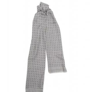 Begg & Co. Cashmere Micro Polka Dot Scarf