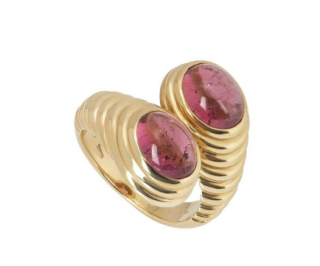 Bvlgari Yellow Gold Amethyst Cocktail Ring
