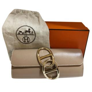 Hermes Etoupe Egee Clutch