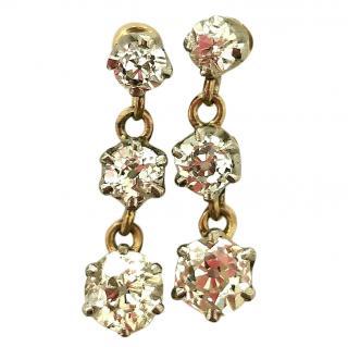 Bespoke Triple Drop Diamond Earrings
