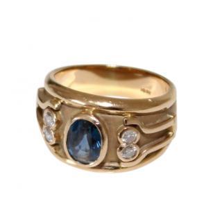 Bespoke Etruscan Sapphire Ring