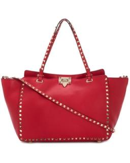Valentino Red Rockstud Tote Bag