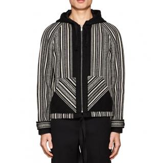 Saint Laurent Baja Folkloric-weave Wool-cotton Hooded Jacket