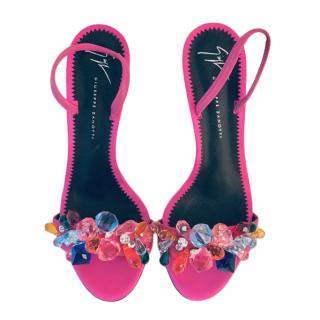 Giuseppe Zanotti Pink Crystal Sandals
