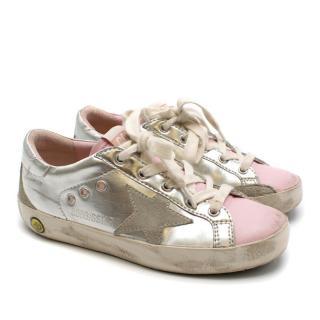 Golden Goose Kids Silver Superstar Sneakers