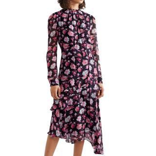 Jason Wu Floral Print Silk Georgette Midi Dress - New Season