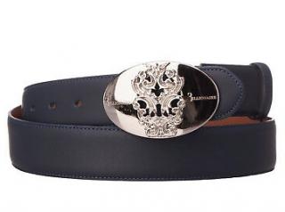 Billionaire Italian Couture navy leather belt