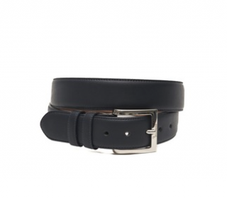 Billionaire Black Leather Belt