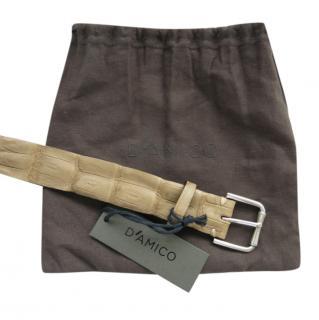 D'Amico Crocodile Leather Belt