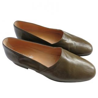 Silvano Lattanzi Olive Men's Loafers