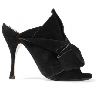 No. 21 Suede Knotted Bow Mules