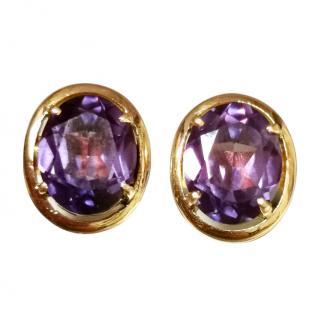Bespoke Vintage Alexandrite Rose Gold Earrings