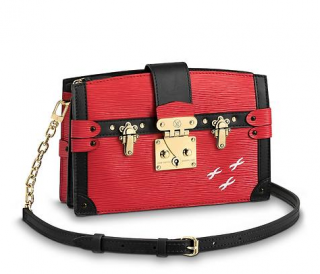 Louis Vuitton Red Epi Leather Pre-Fall '18 Trunk Clutch