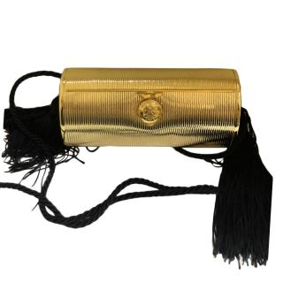 Fendi Vintage Gold Tassel Clutch