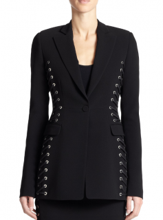 Altuzarra Merrie black laced jacket